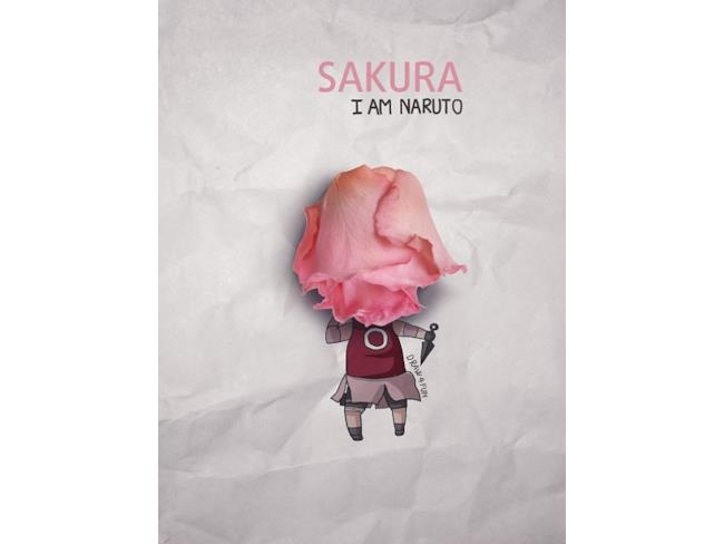 Sakura con una rosa al posto dei capelli