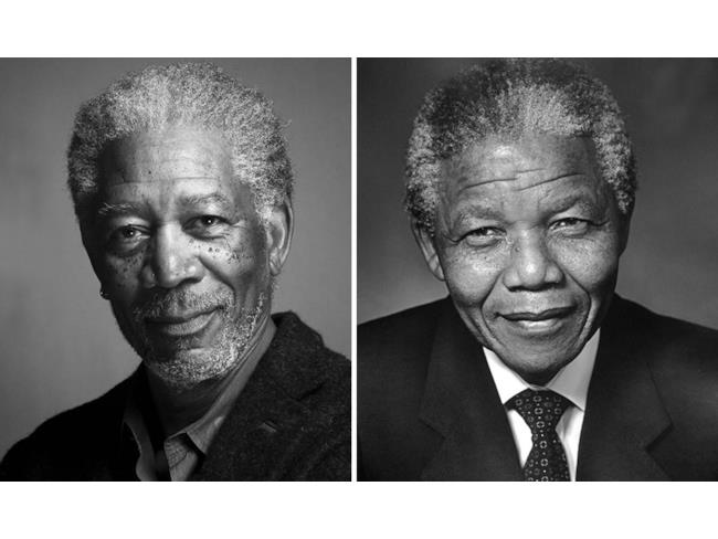 Morgan Freeman nelle vesti di Nelson Mandela