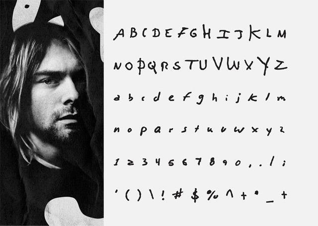 La calligrafia di Kurt diventa un font digitale