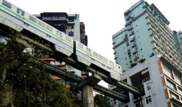 La monorotaia della città di Chongqing