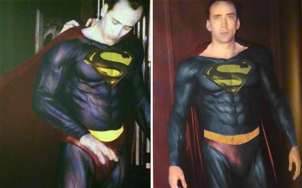 Nicolas Cage in Superman Lives