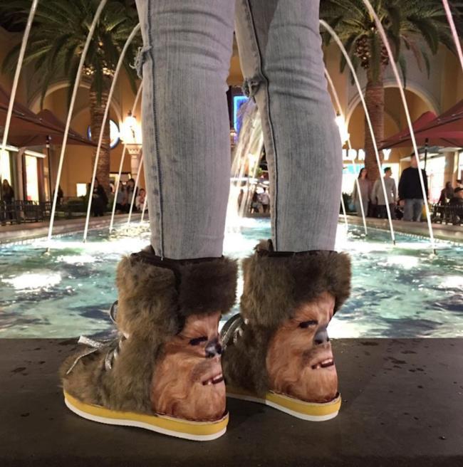 Gli stivali di Chewbacca