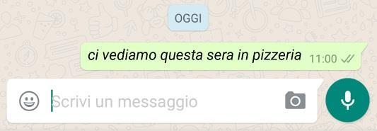 Messaggio in corsivo su WhatsApp