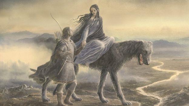 Beren e Lúthien in un'illustrazione di Alan Lee