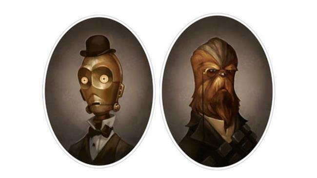 Ritratti vecchio stile dei personaggi di Star Wars - 1