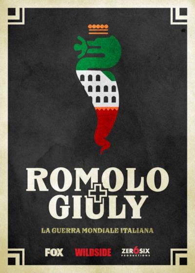 Il teaser poster di Romolo + Giuly: La Guerra Mondiale italiana