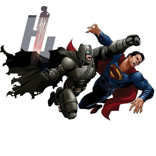 Batman dà un pugno a Superman nella nuova concept art del film