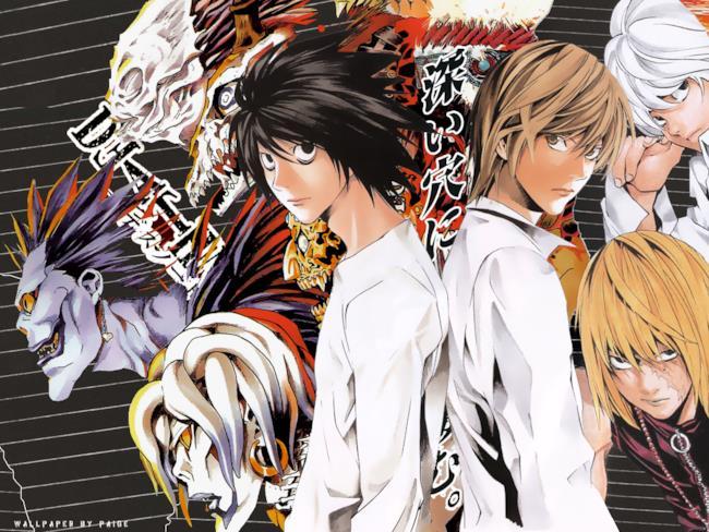 I protagonisti principali del manga di Death Note