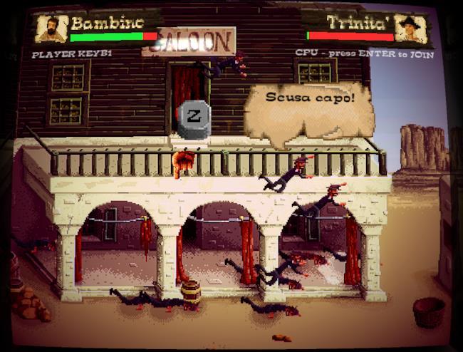 Trinità e Bambino nel videogioco di Schiaffi e Fagioli