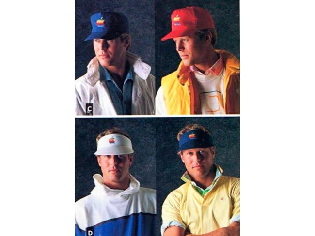 Diversi modelli di berretti Apple