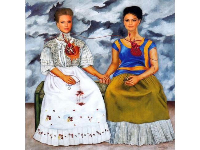 """Taylor Swift e Selena Gomez in """"Le due Frida"""" di Frida Kahlo"""