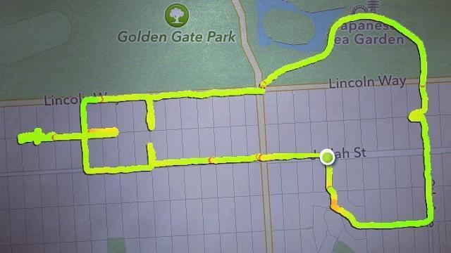 Peni rappresentati con il GPS