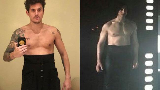 John Mayer a sinistra e Kylo Ren a destra