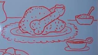 Una pollo con le alette a forma di pene