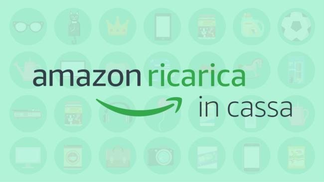 Il logo di Amazon Ricarica in Cassa