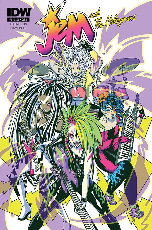 Seconda cover del fumetto Jem and the Holograms