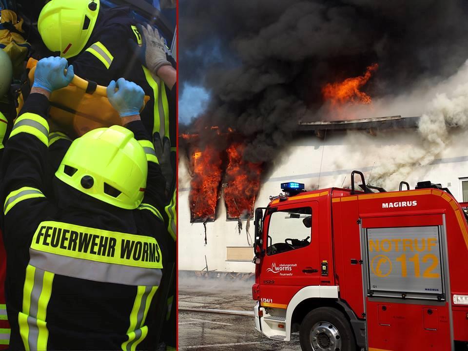 I pompieri di Worms al lavoro
