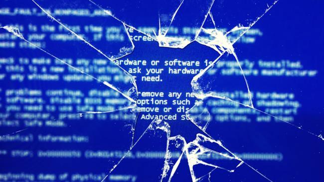 schermata blu di windows xp