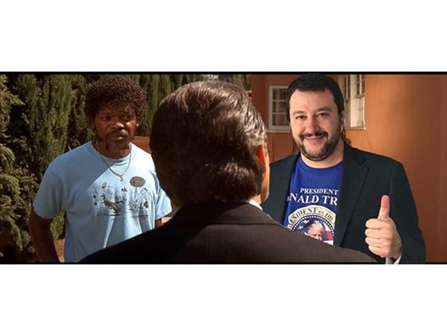 Meme di Salvini ambientato in Pulp Fiction