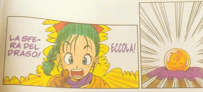 Bulma scopre che Goku possiede una Sfera del Drago.