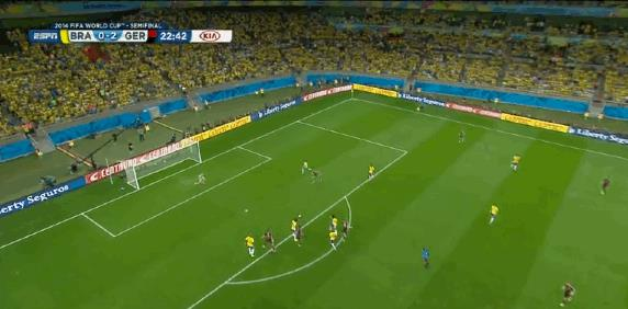 Il goal di Klose contro il Brasile ai Mondiali 2014