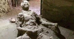 Il povero masturbatore di Pompei immortalato