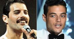 A sinistra Freddie Mercury, a destra Rami Malek