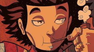 Un primo piano di uno dei protagonisti del fumetto, John Due di Picche.