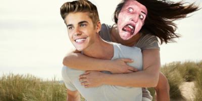 Justin Bieber e Marilyn Manson abbracciati