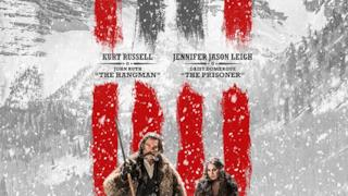 Il character poster di The Hateful Eight con Kurt Russell e Jennifer Jason Leigh