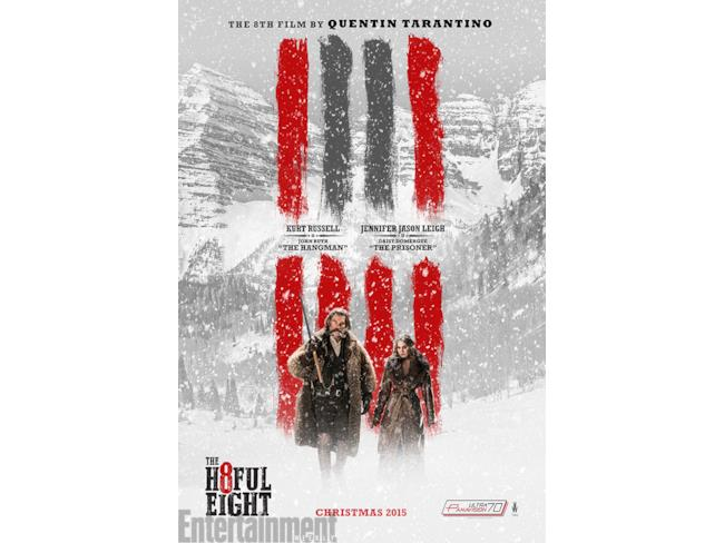 Il character poster di The Hateful Eight con Kurt Russell e Jennifer Jason Leigh