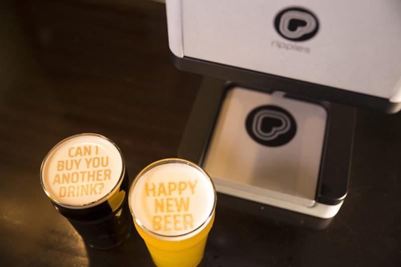 La stampante per birra