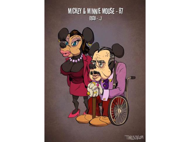 Minnie e Topolino da vecchi