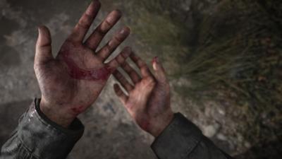 Le mani insanguinate del protagonista