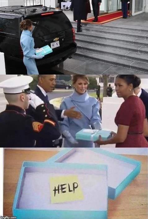 Meme di Melania Trump sul reaglo a Michelle Obama