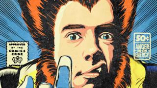 Johnny Rotten come se fosse un supereroe Marvel