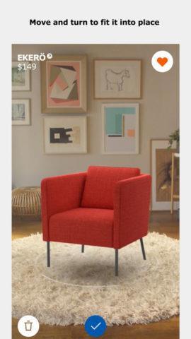 Una prima immagine di IKEA Place, la nuova app che sfrutta al realtà aumentata dell'Iphone