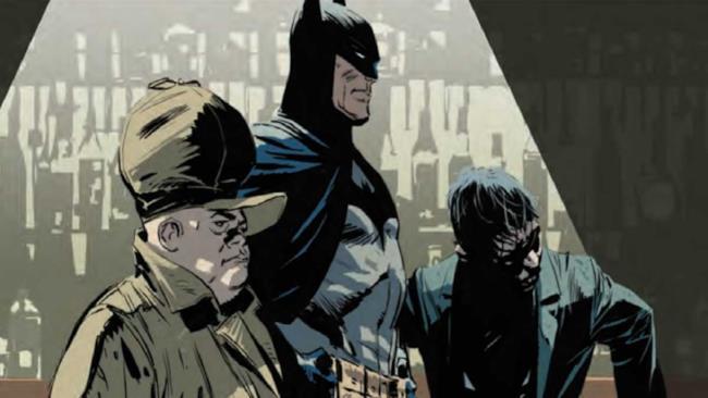 Batman e Taddeo in una scena della storia che li vede nemici