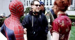 Sam Raimi sul set con Spider-Man