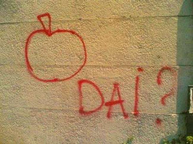 Scritta d'amore sul muro