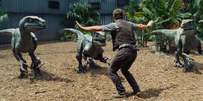 Owen Grady e i raptor ammaestrati di Jurassic World
