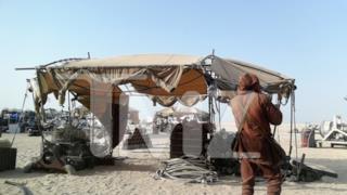 Foto di una capanna su Tatooine