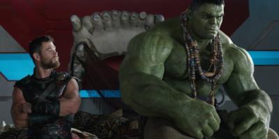 Thor e Hulk nel film