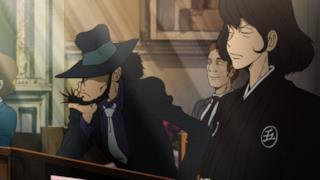 Jigen e Goemon assistono al matrimonio di Lupin