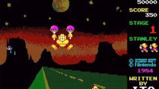 La copertina originale del videogioco Donkey Kong 3 - il grande contrattacco
