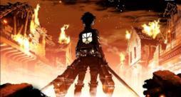 Una scena dell'anime L'Attacco dei Giganti