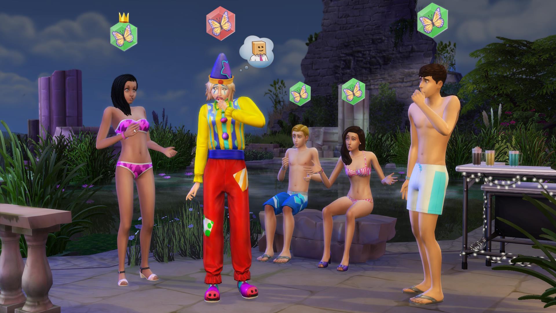 Un'immagine del videogame The Sims 4