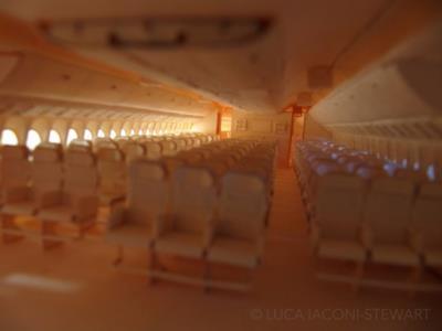 I sedili dell'aereo di carta