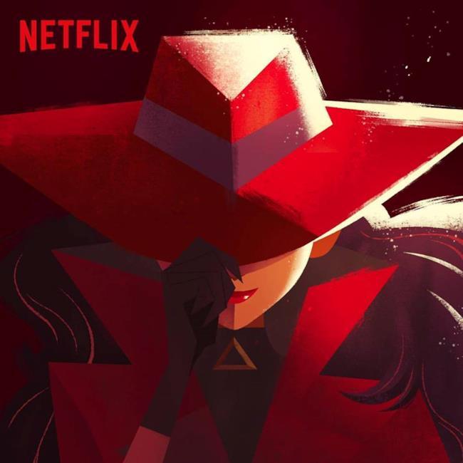 La locandina di Carmen Sandiego su Netflix