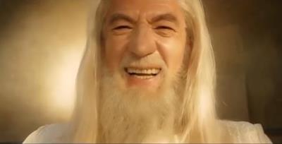 Gandalf sorridente
